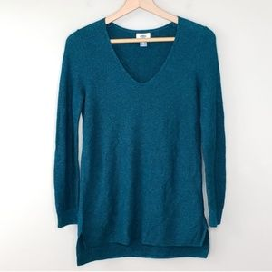 Old Navy Teal Waffle Knit Sweater